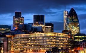 Картинка ночь, Англия, Лондон, night, London, England