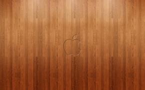 Картинка фон, apple, яблоко, минимализм, текстура, логотип, паркет