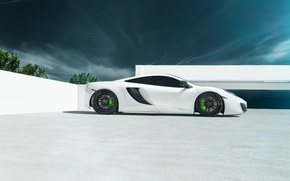 Картинка McLaren, white, supercar, 12C MP4