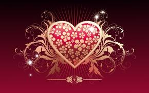 Обои вектор, любовь, сердце