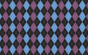 Картинка белый, фиолетовый, линии, голубой, обои, черный, текстура, ромбы