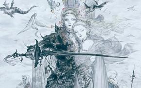 Картинка рисунок, Final fantasy, final fantasy v, amano faris, ёситака амано