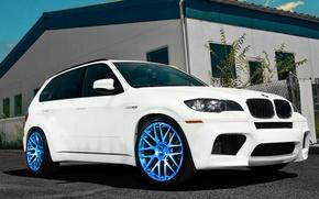 Картинка тюнинг, BMW, белая