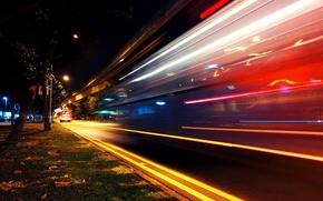 Картинка city, город, движение, Ночь, выдержка, night, traffic, exposure