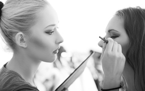Картинка makeup, white and black, makeup artist, technical