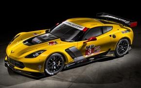 Картинка Corvette, chevrolet, yellow