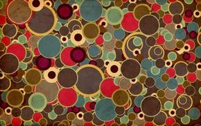 Картинка круги, абстракция, разноцветные