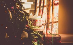 Картинка праздник, елка, новый год, подарки