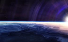 Обои свет, планета, звезды