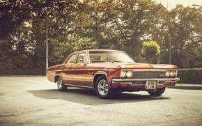 Картинка фары, тень, Chevrolet, колеса, 1966, Impala