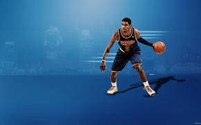 Картинка баскетбол, NBA, Cleveland Cavaliers, Kyrie Irving, дриблинг