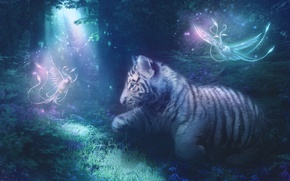 Картинка Тигр, рисунки, фэнтази