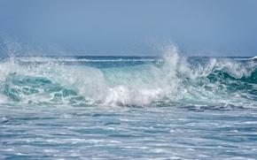 Обои волна, Napili Bay, Мауи, океан, Maui, Hawaii, Гавайи
