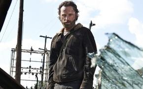 Картинка The Walking Dead, Rick Grimes, Ходячие мертвецы, Andrew Lincoln, Эндрю Линкольн, Рик Граймс