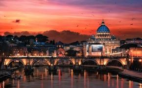Обои Рим, ночь, Италия