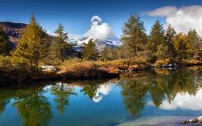 Картинка горы, озеро, Швейцария, Grindjisee