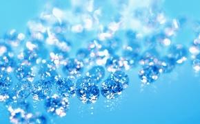 Обои бриллианты, синий