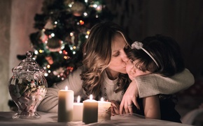 Картинка love, Christmas, kiss