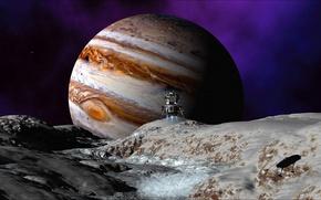 Картинка космос, спутник, Венера, wallpapers, космический зонд