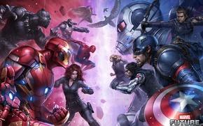 Картинка Art, Фильм, Iron Man, Captain America, Spider Man, Ant-Man, Captain America: Civil War, Первый мститель: …
