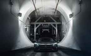 Картинка Mercedes-Benz, Front, AMG, Supercar, Wheels, ADV.1, Ligth, GT S