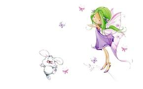 Картинка девочка, детская, феечка, Марина Федотова, арт