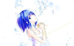 Картинка девушка, пузыри, крест, аниме, арт, цепь, mahou shoujo madoka magica, Девочка-волшебница Мадока, miki sayaka, azmodan