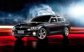 Картинка BMW, black, 3 Series, 320i