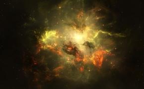 Обои вспышки, starlight beauty, Space glow, звёзды, космос, свечение