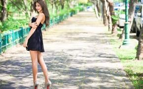Картинка девушка, улыбка, улица