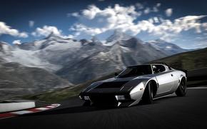 Картинка авто, гонка, трасса, drift