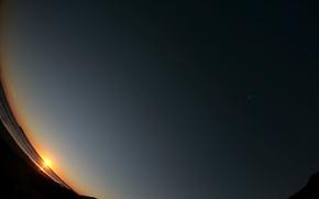Обои небо, восход, обоя