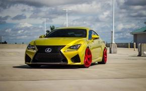 Картинка Lexus, Red, Gold, Wheels, RC-F, LP5