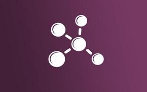 Картинка минимализм, формула, химия, молекула