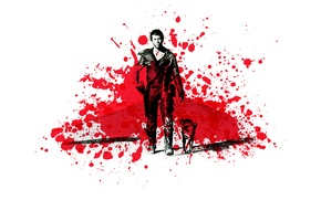 Картинка кровь, собака, Mel Gibson, Воин дороги, Мел Гибсон, Mad Max 2, Безумный Макс 2