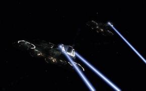 Картинка космос, корабли, stargate, daedalus, star gate