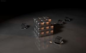 Обои кубики, стекло