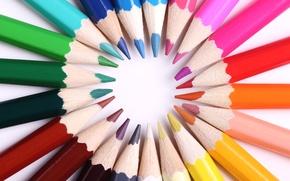 Картинка colors, wood, graphite, crayons