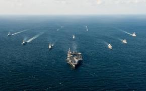 Картинка оружие, корабли, John C. Stennis Carrier Strike Group