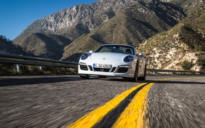 Картинка car, машина, 911, Porsche, кабриолет, road, speed, Cabriolet, Carrera 4 GTS