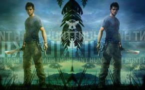 Картинка море, тучи, пистолет, мачете, Far Cry 3, Джейсон Броди, Jason Brody