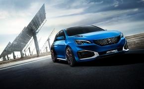 Обои 2015, HYbrid, концепт, Peugeot, пежо, Concept, 308 R