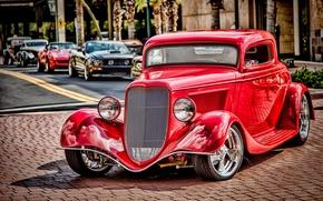 Картинка красный, ретро, Ford, классика, 1934 Ford Coupe