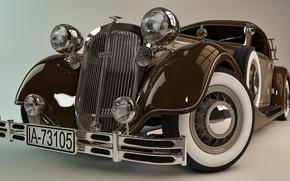 Картинка модель, арт, sport, автомобиль, классика, легко, красивый, полностью, Хорьх, Horch, 853, модель., повышенной, мощности, двигателем, …