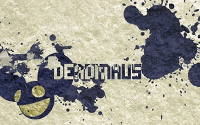Обои Dedmau5, брызги, надпись