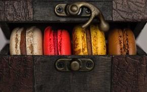 Обои печенье, сладости, шкатулка, цветное, кексы, ларец