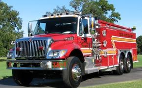 Картинка fire, International, truck, 7400