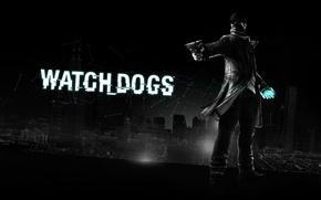 Обои пистолет, Chicago, 2013, Ubisoft Montreal, Сторожевые псы, Aiden Pearce, watch dogs