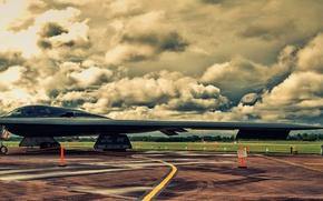 Картинка бомбардировщик, аэродром, Northrop, стратегический, B-2A Spirit
