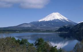 Обои Фудзи, Япония, Вода